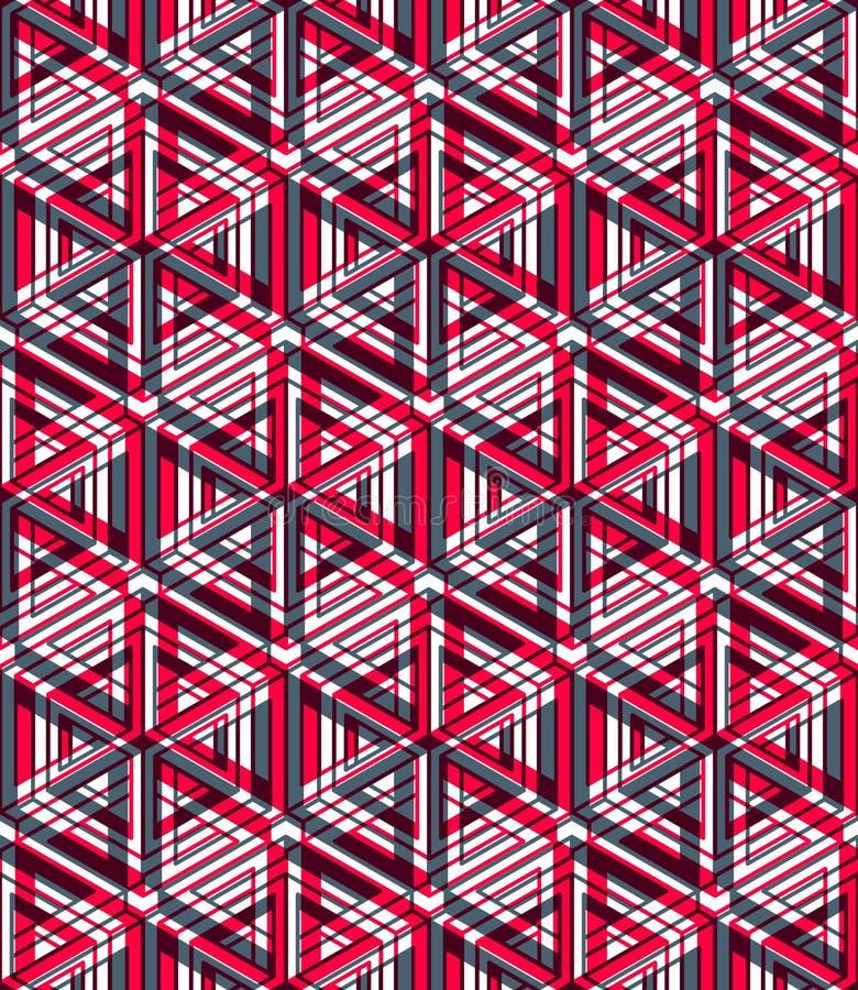 Modèle coloré continu trompeur, backgr abstrait décoratif illustration stock