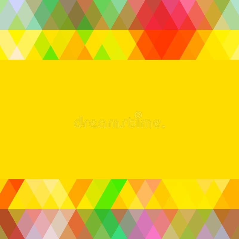Modèle coloré d'abrégé sur vintage avec le losange coloré Fond géométrique, calibre pour votre conception Vecteur illustration libre de droits