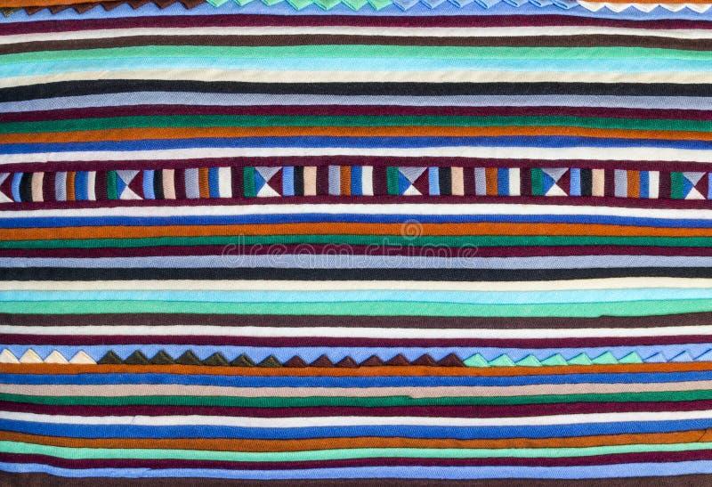 Modèle coloré d'alternance de tissu image stock
