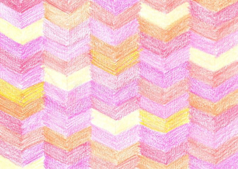 Modèle coloré de dessin de crayon images libres de droits