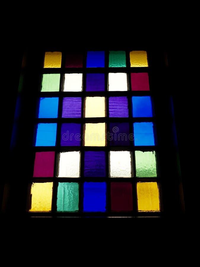 Modèle coloré de fenêtre images stock