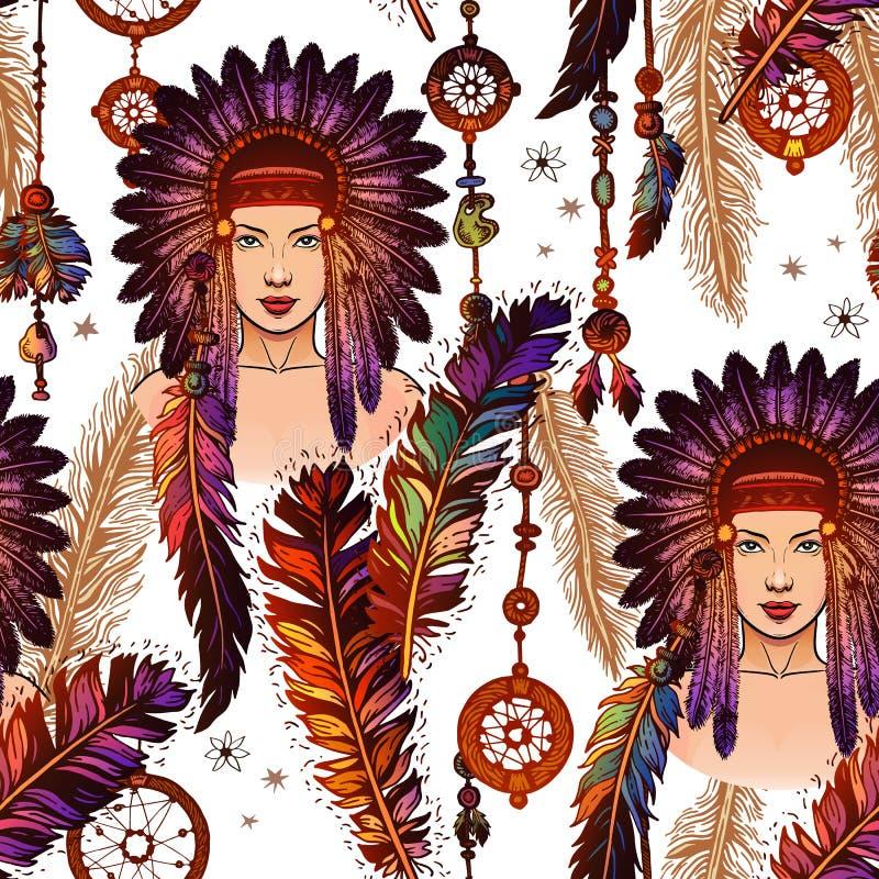 Modèle coloré de plumes au-dessus du fond blanc illustration de vecteur