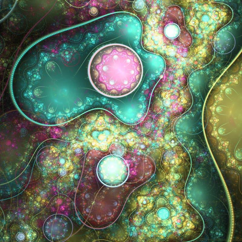 Modèle coloré de rouages de fractale illustration libre de droits