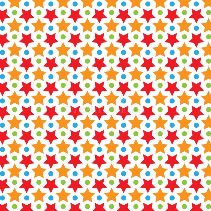 Modèle coloré de vecteur d'étoile illustration stock