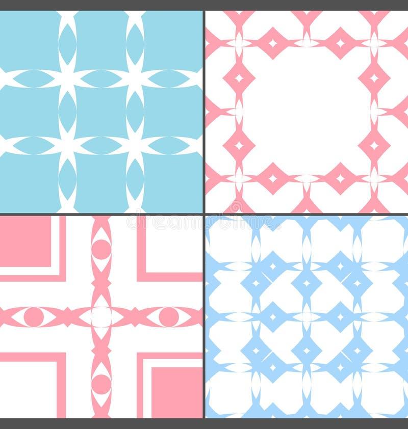 Modèle coloré du rétro style quatre illustration stock