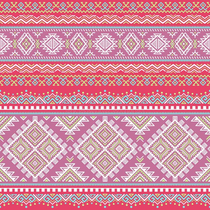Modèle coloré rayé sans couture ethnique illustration stock