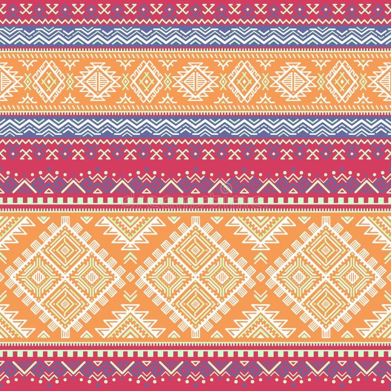 Modèle coloré rayé sans couture ethnique illustration de vecteur