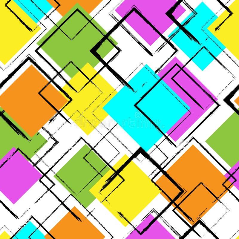 Modèle coloré sans couture avec des places Fond abstrait de vecteur illustration stock