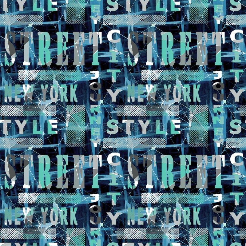 Modèle coloré sans couture dans le style urbain illustration libre de droits