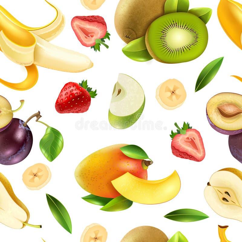 Modèle coloré sans couture de baies de fruits illustration libre de droits