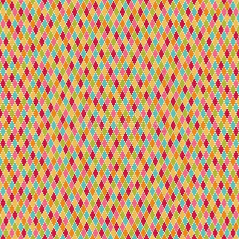 Modèle coloré sans couture de harlequin illustration libre de droits