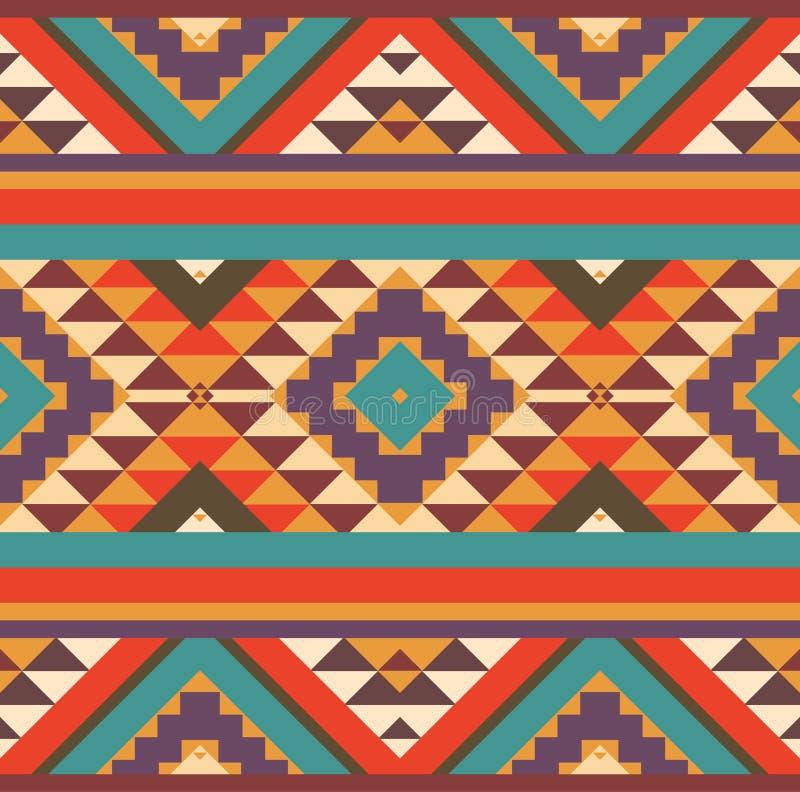 Modèle coloré sans couture de Navajo illustration stock
