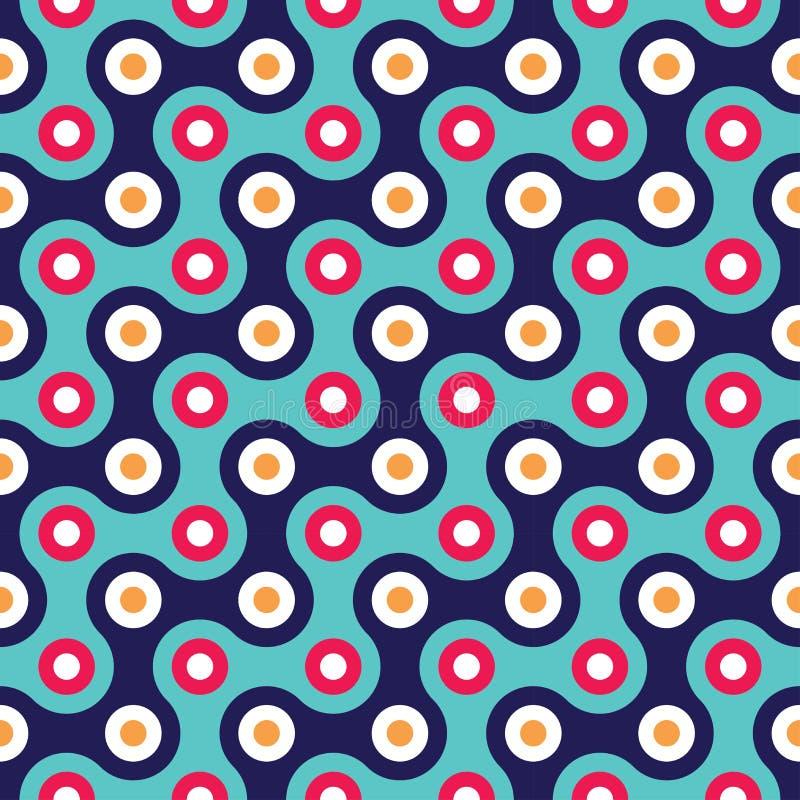modèle coloré sans couture moderne de la géométrie d'ector colorez le fond géométrique abstrait bleu illustration libre de droits