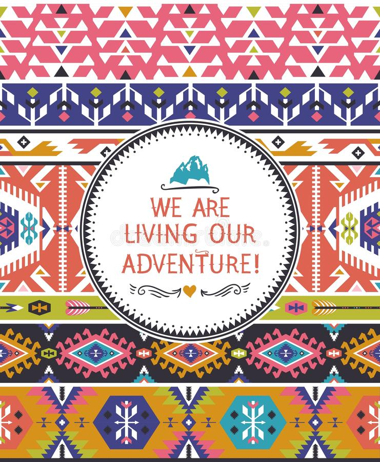 Modèle coloré tribal sans couture de Navajo illustration libre de droits
