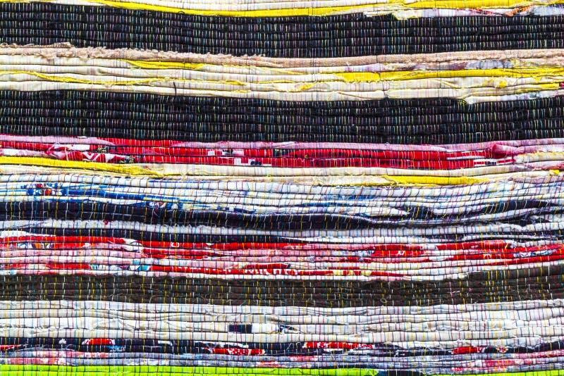Modèle colurful d'alternance de détail de tissu image stock