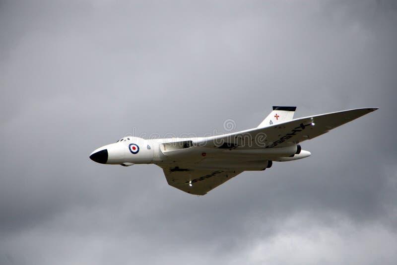 Modèle commandé par radio de bombardier de Vulcan image libre de droits