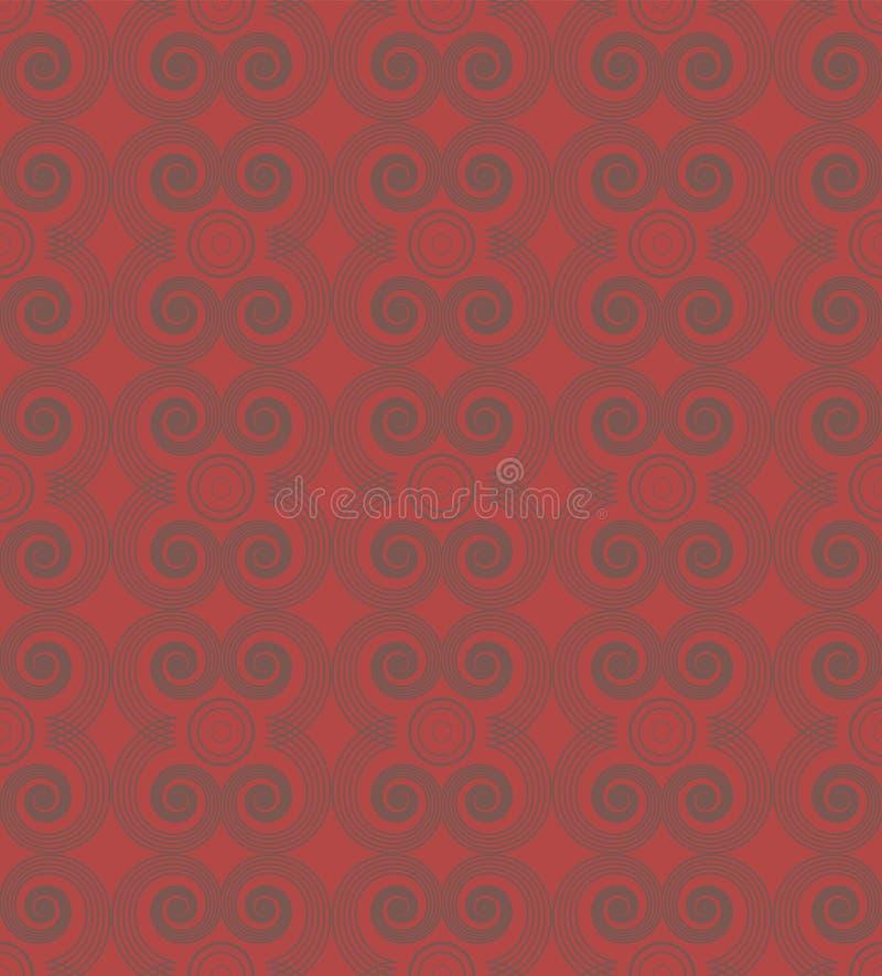 Modèle concentrique de spirales de répétition sans couture illustration libre de droits
