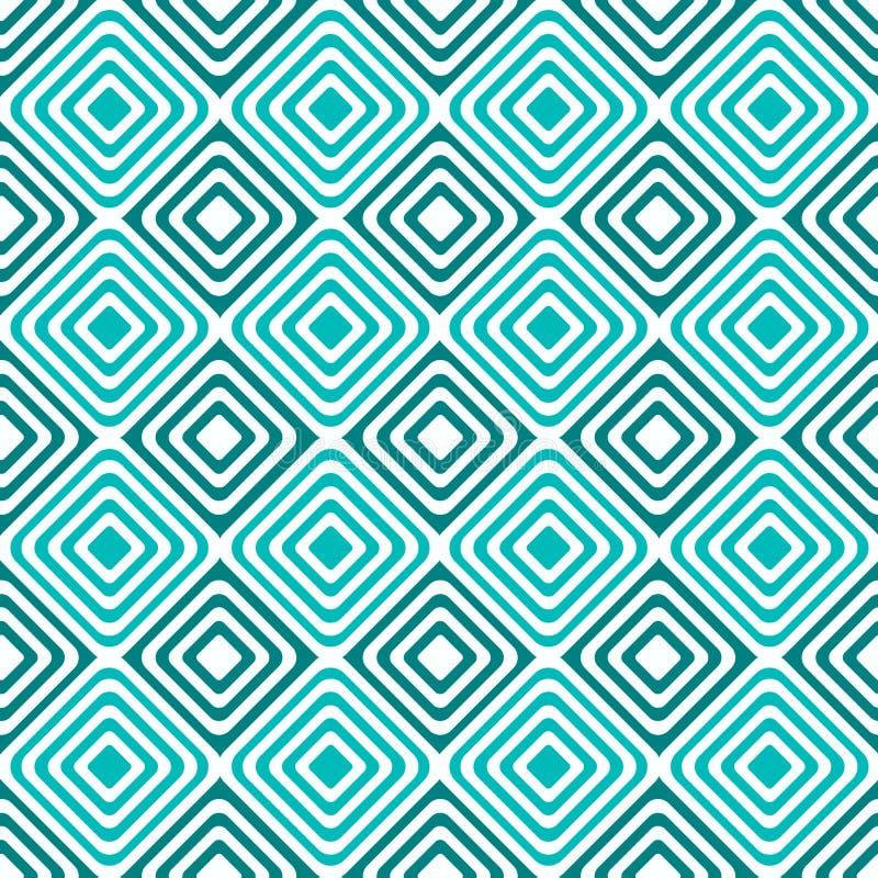 Modèle concentrique hypnotique sans couture de places illustration stock