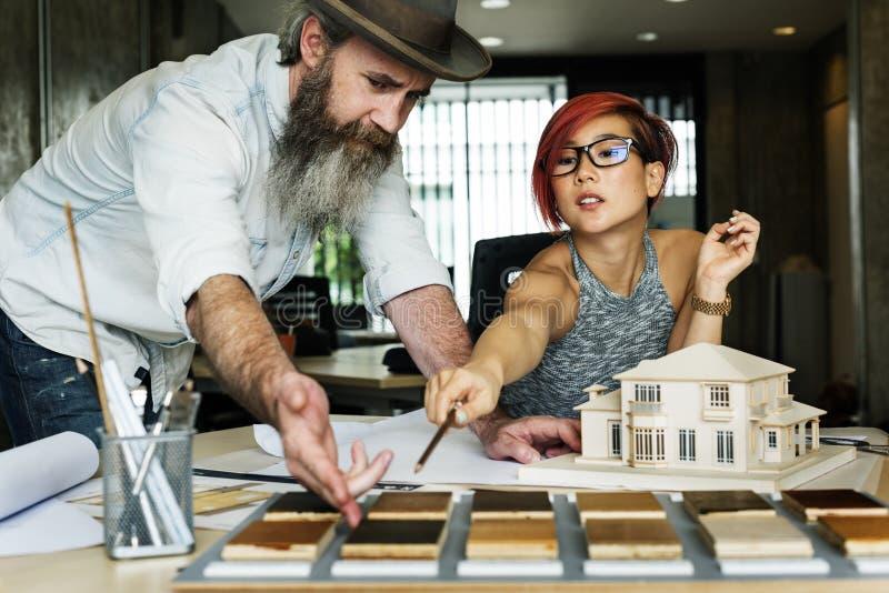 Modèle Concept de Creative Occupation House d'architecte de studio de conception image libre de droits