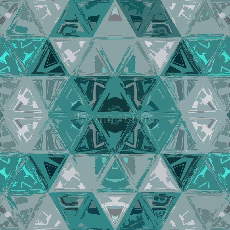 Modèle contemporain de sarcelle d'hiver en verre Triangle g?om?trique Formes futuristes de gradient photographie stock libre de droits