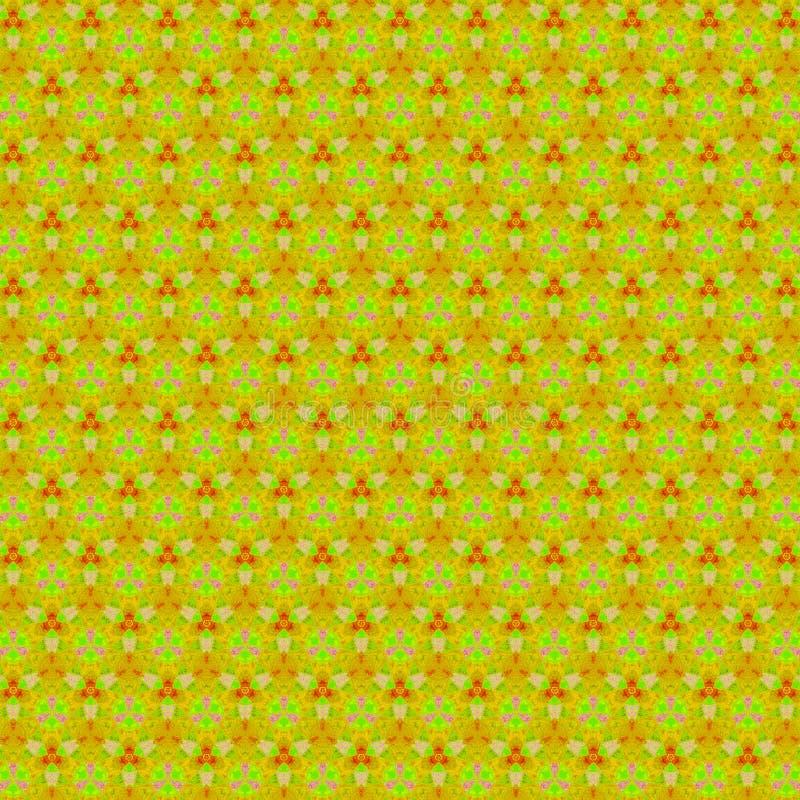 Modèle continu de cru sur le fond jaune pour la copie de papier peint ou de textile Ornement classique Logo floral photo libre de droits