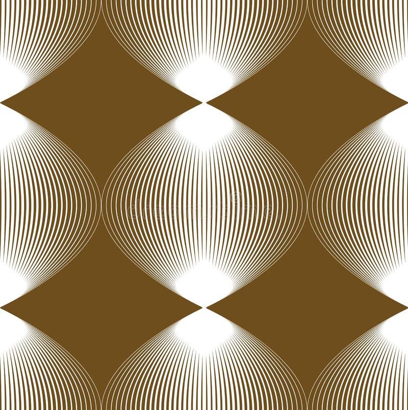 Modèle continu de vecteur avec les lignes graphiques, abstrac décoratif illustration de vecteur