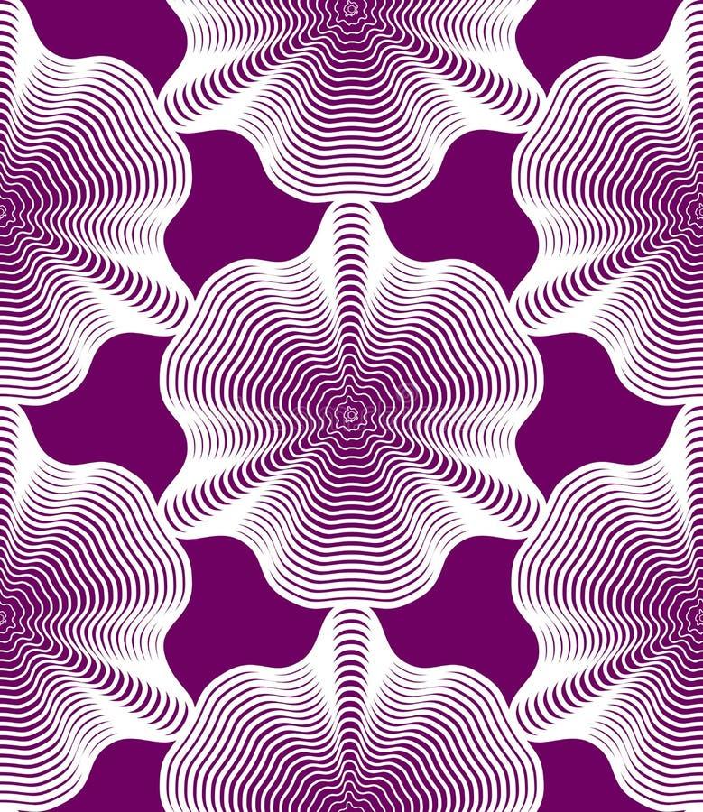 Modèle continu de vecteur avec les lignes graphiques, abstrac décoratif illustration stock