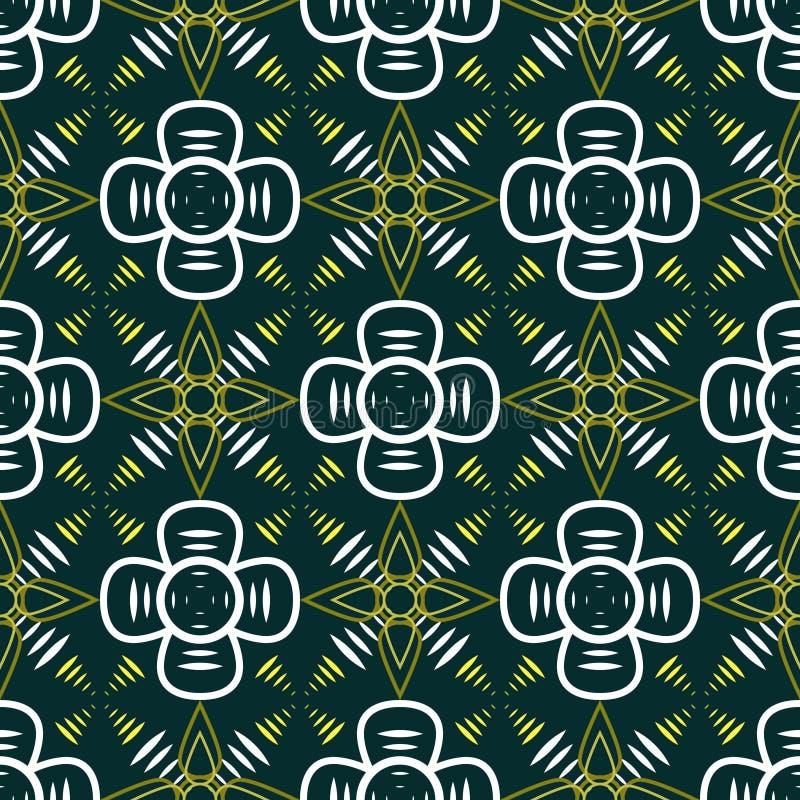 Modèle contrasty géométrique sans couture abstrait illustration de vecteur