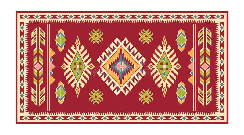 Modèle couvrant tribal d'Indiens d'Amerique illustration libre de droits