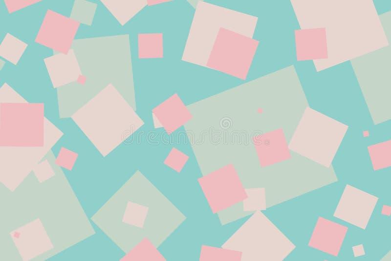 Modèle cyan et rose coloré moderne de boîtes illustration de vecteur