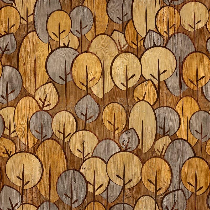 Modèle décoratif abstrait - fond sans couture - textu en bois photos stock