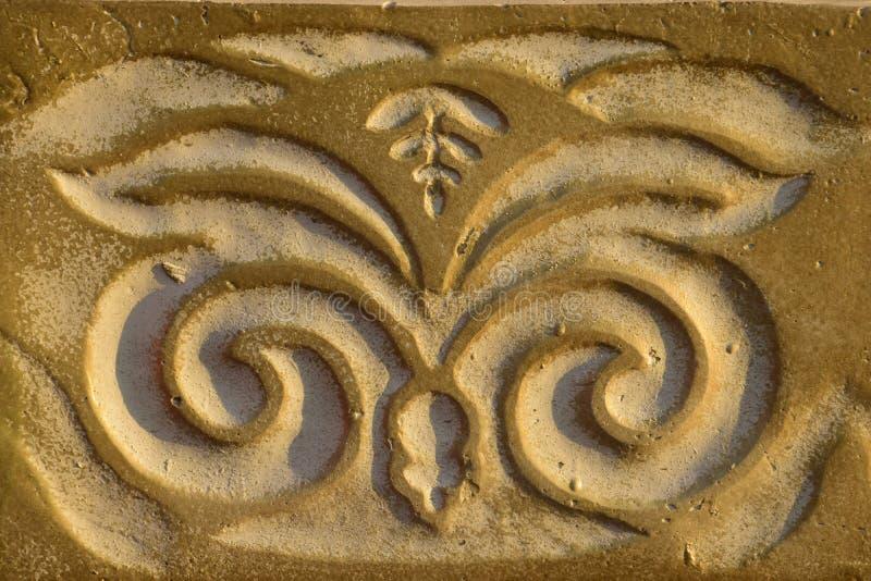 Modèle décoratif sur l'albâtre image stock