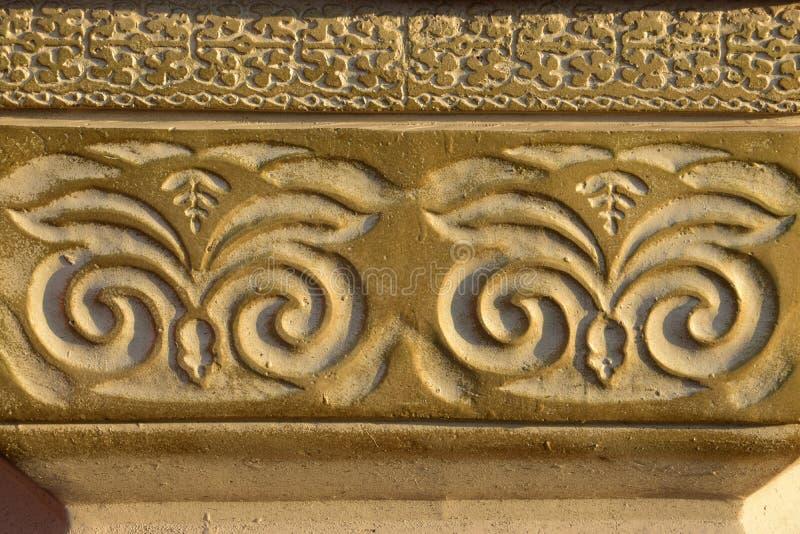 Modèle décoratif sur l'albâtre images stock