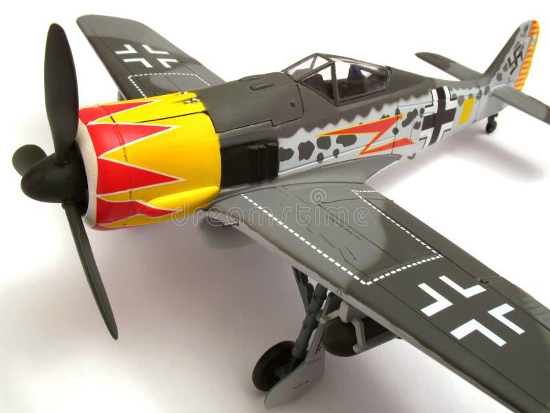 Modèle d'échelle de Focke Wulf 190 photographie stock
