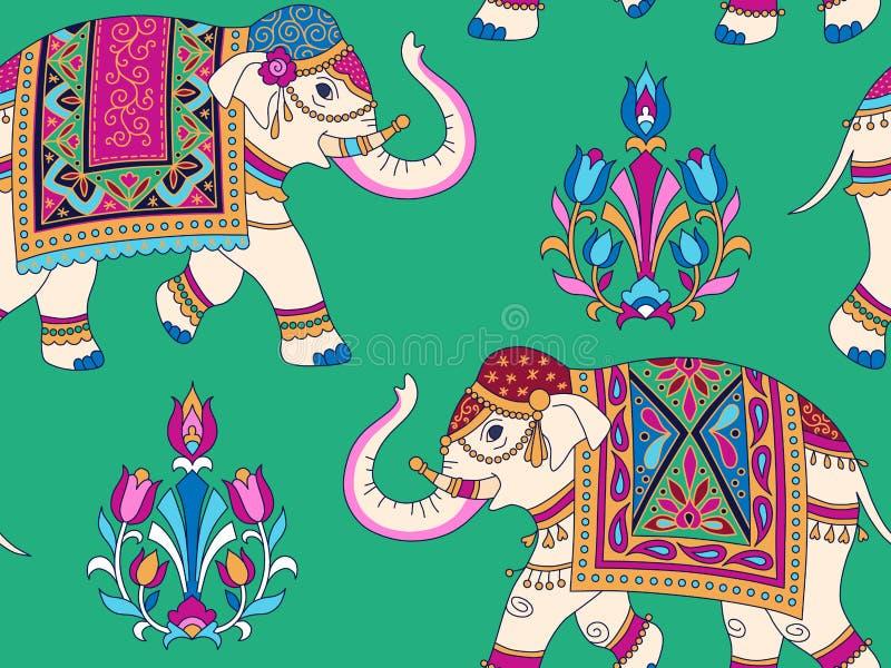 Modèle d'éléphants d'Asie illustration libre de droits