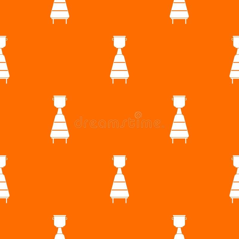 Modèle d'équipement de distillerie de vin sans couture illustration libre de droits