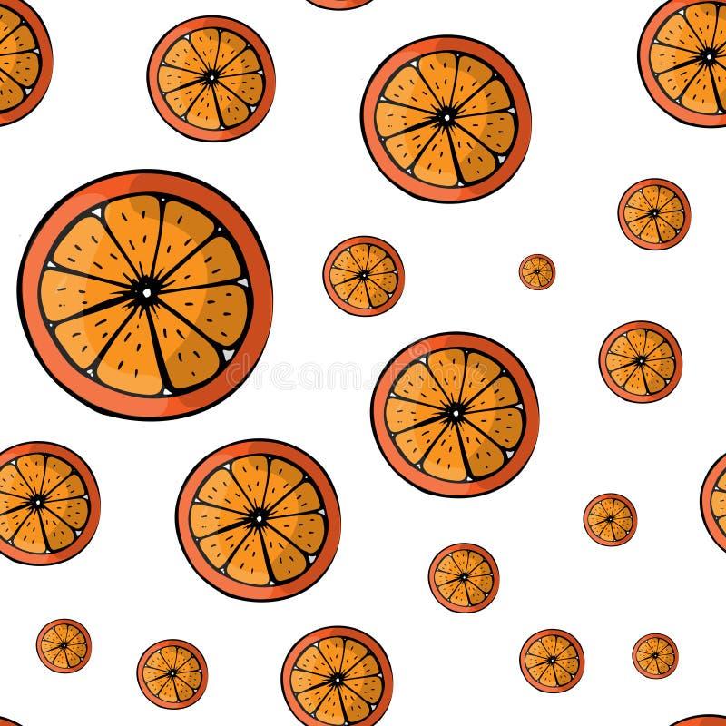 Modèle d'été de vecteur avec des fruits illustration de vecteur