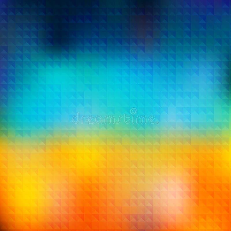 Modèle d'été de vecteur des formes géométriques illustration de vecteur