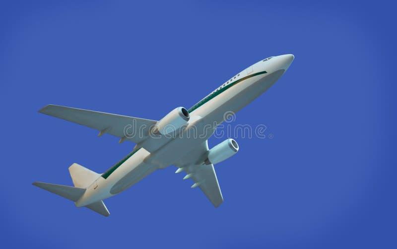 Modèle d'aéronefs sur le fond bleu photo stock