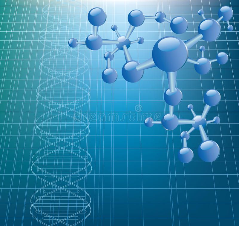 Modèle d'ADN illustration stock