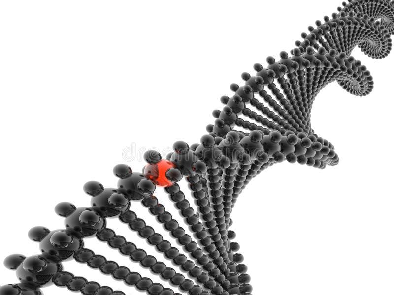 modèle d'ADN 3D illustration libre de droits