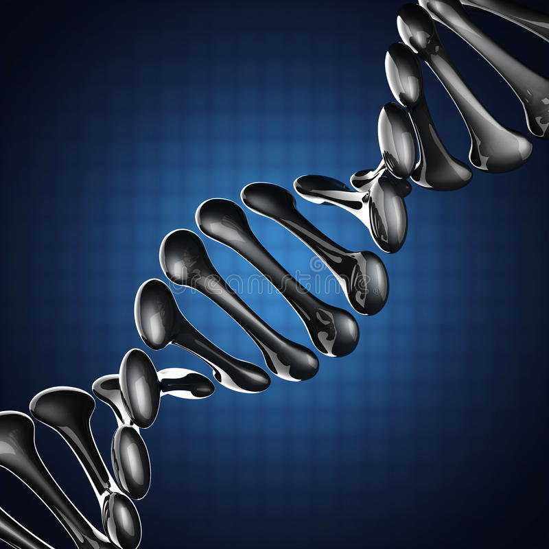 Modèle d'ADN sur le fond bleu illustration stock