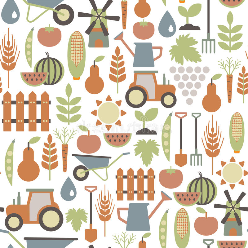 Modèle d'agriculture illustration stock