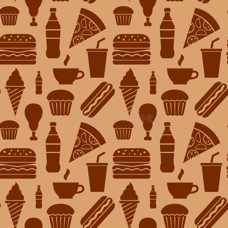 Modèle d'aliments de préparation rapide illustration stock