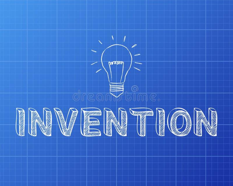 Modèle d'ampoule d'invention illustration de vecteur