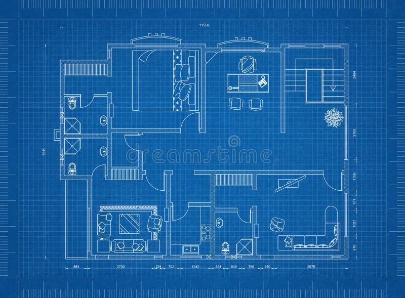 Modèle d'appartement illustration de vecteur