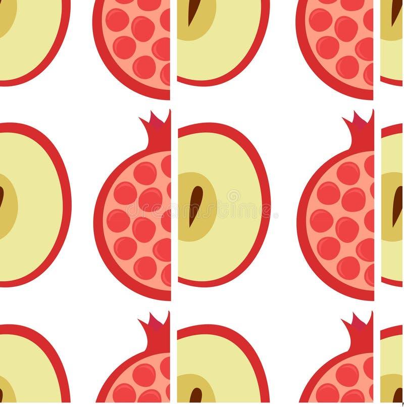Modèle d'Apple et de grenade illustration de vecteur