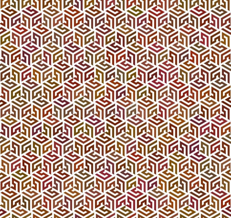 Modèle d'arabesque | Sans couture illustration stock