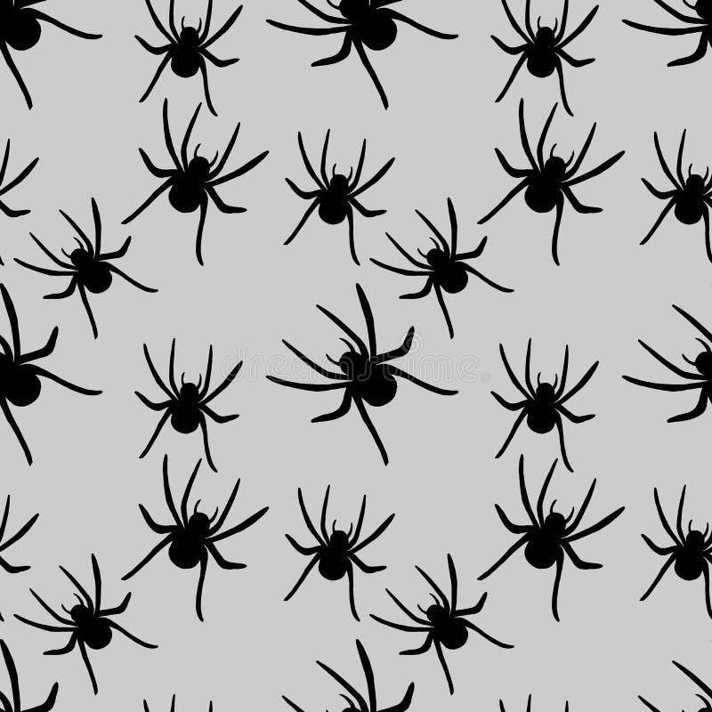 Modèle d'araignée Perfectionnez pour saisonnier, automne, conception de Halloween illustration stock