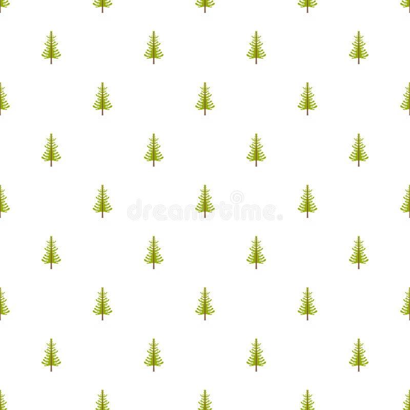 Modèle d'arbre de mélèze sans couture illustration stock